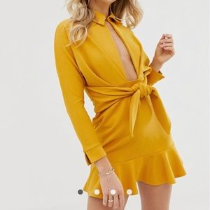 ASOS DESIGN drop waist mini shirt dress
